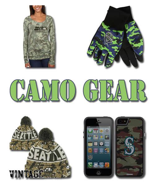 Seattle Teams Camouflage Fan Gear
