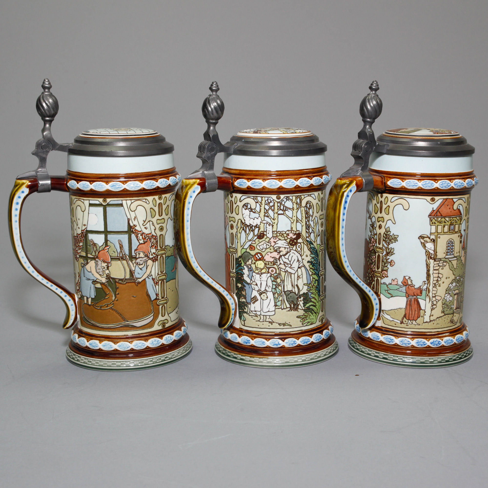 Villeroy And Boch Villeroy And Boch Fairytale Collection 3 Tankards Seaway