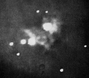 First Photo of Orion Nebula