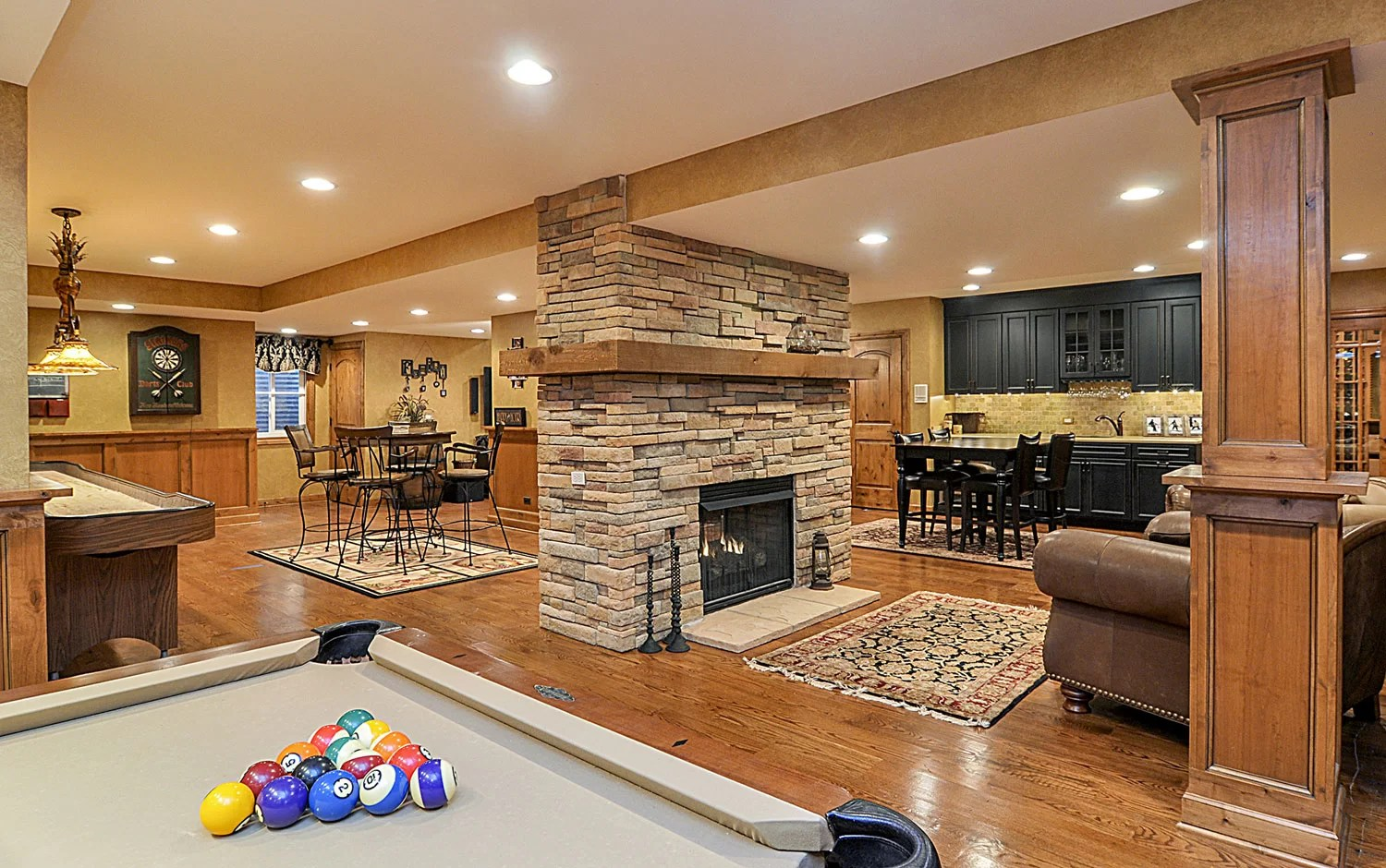 Basement Fireplace Ideas Michael And Nancy 39s Basement Remodel Pictures Home