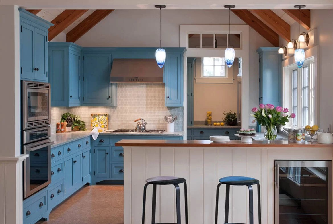 Blue Kitchen Cabinet Design Trend Blue Kitchen Cabinets And 30 Ideas To Get You