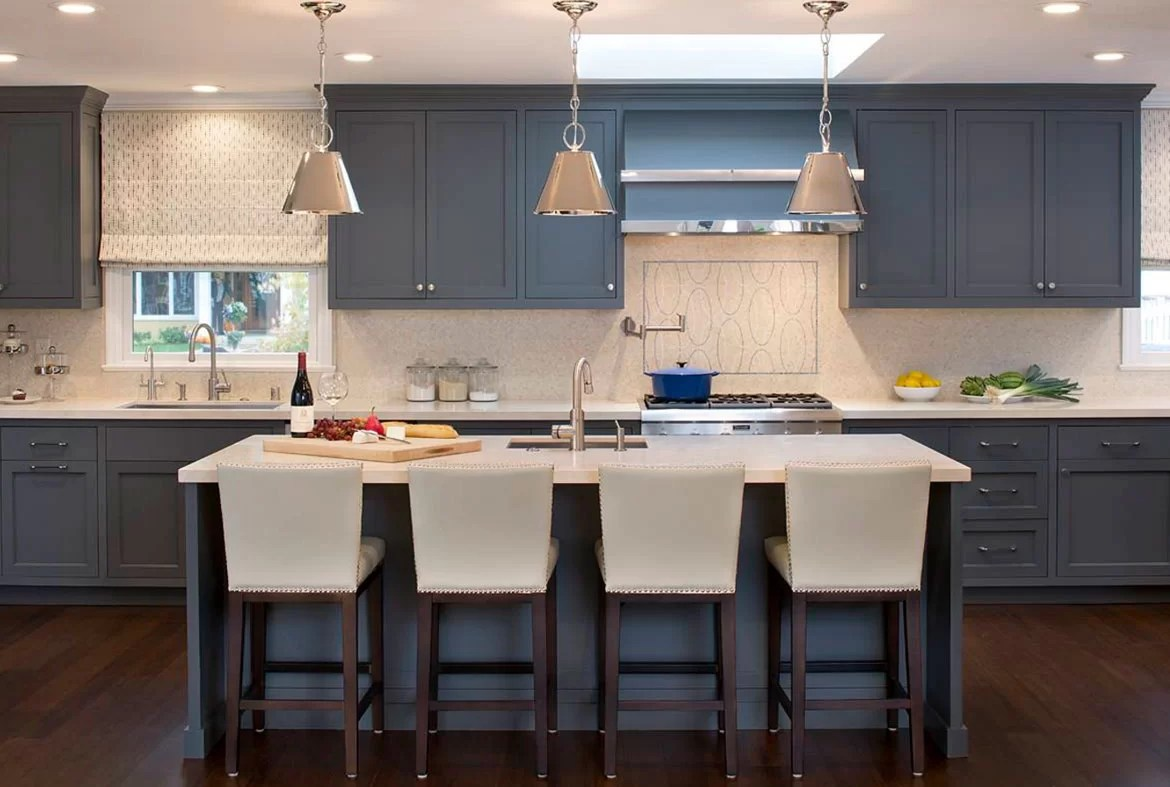 Grey White And Blue Living Room Design Trend Blue Kitchen Cabinets 30 Ideas To Get You Started