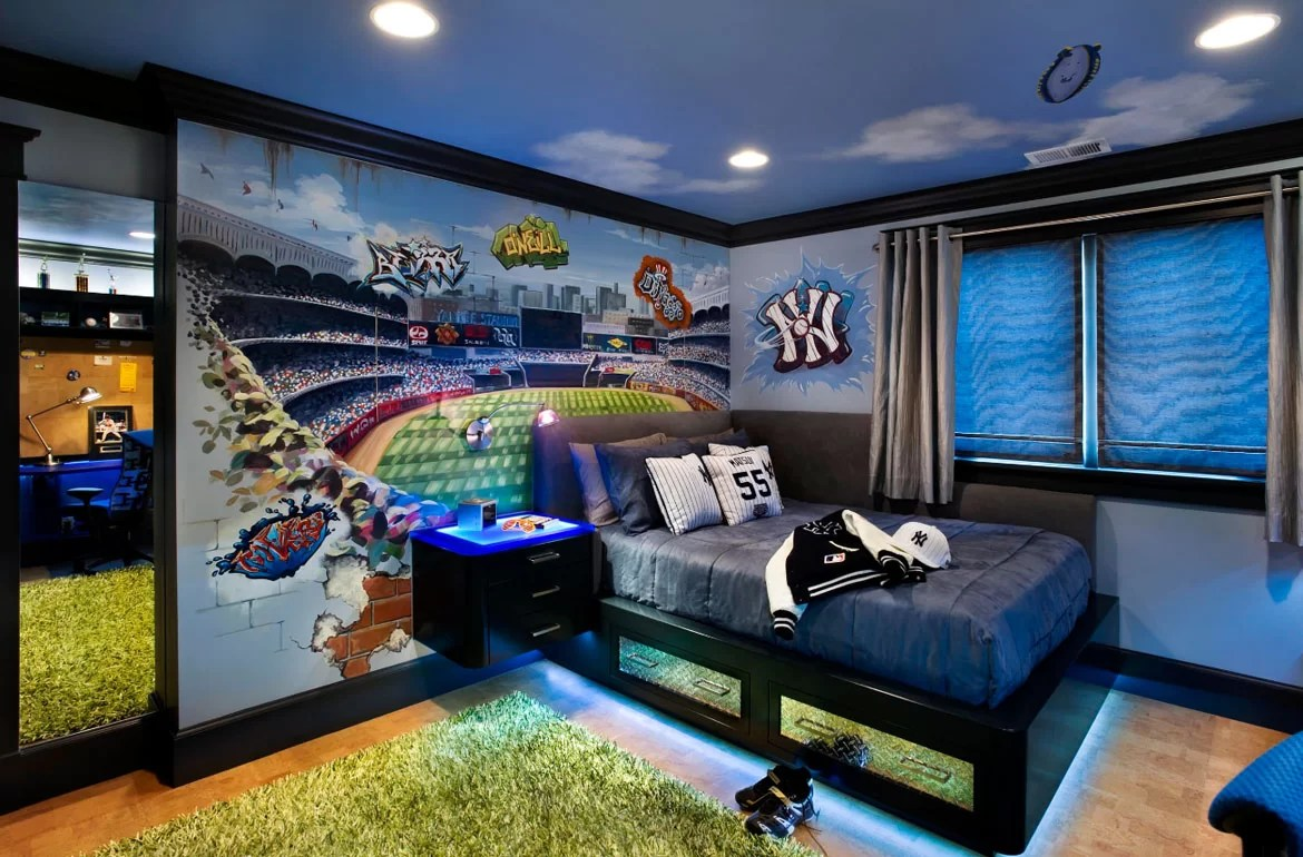 Unique Kid Rooms 47 Really Fun Sports Themed Bedroom Ideas Home Remodeling
