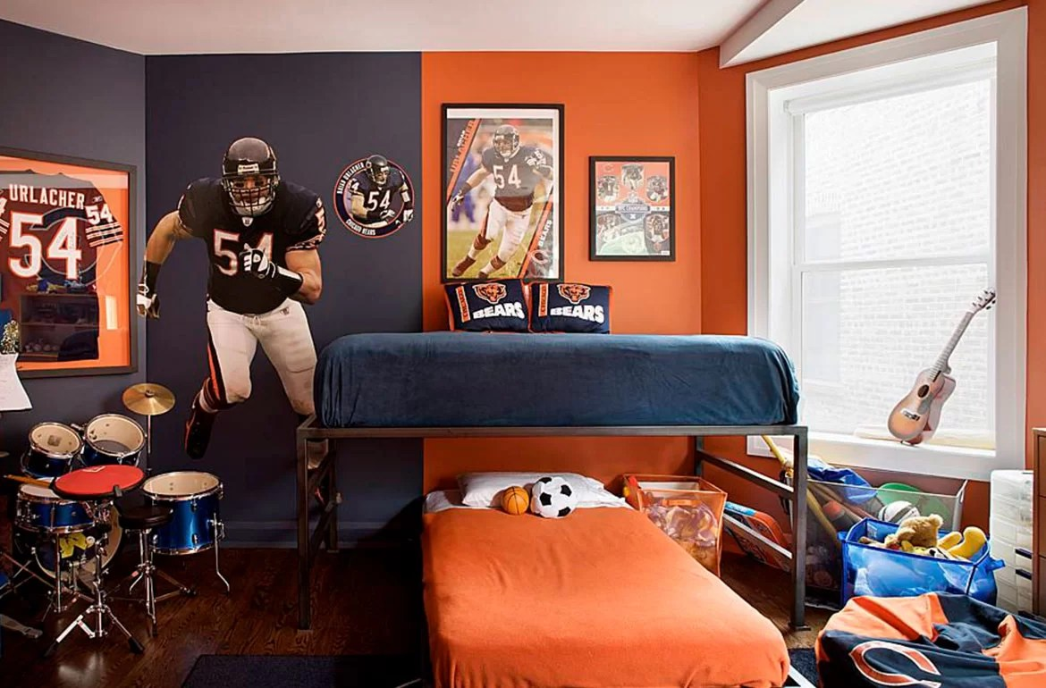 Blue Bedroom Ideas For Adults 47 Really Fun Sports Themed Bedroom Ideas Home Remodeling