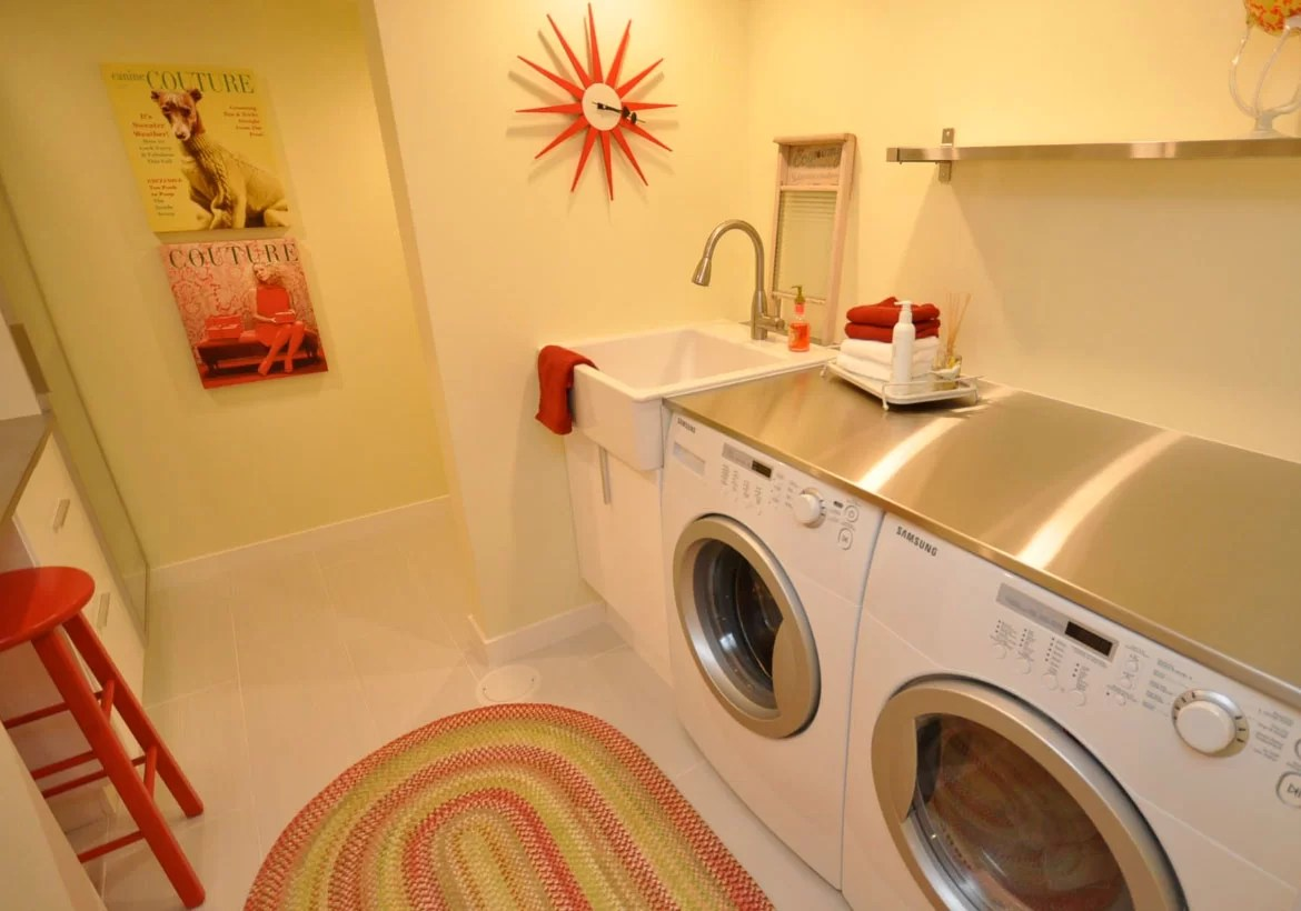 Laundry Room Countertop Material Sleek Stainless Steel Countertop Ideas Guide Home Remodeling