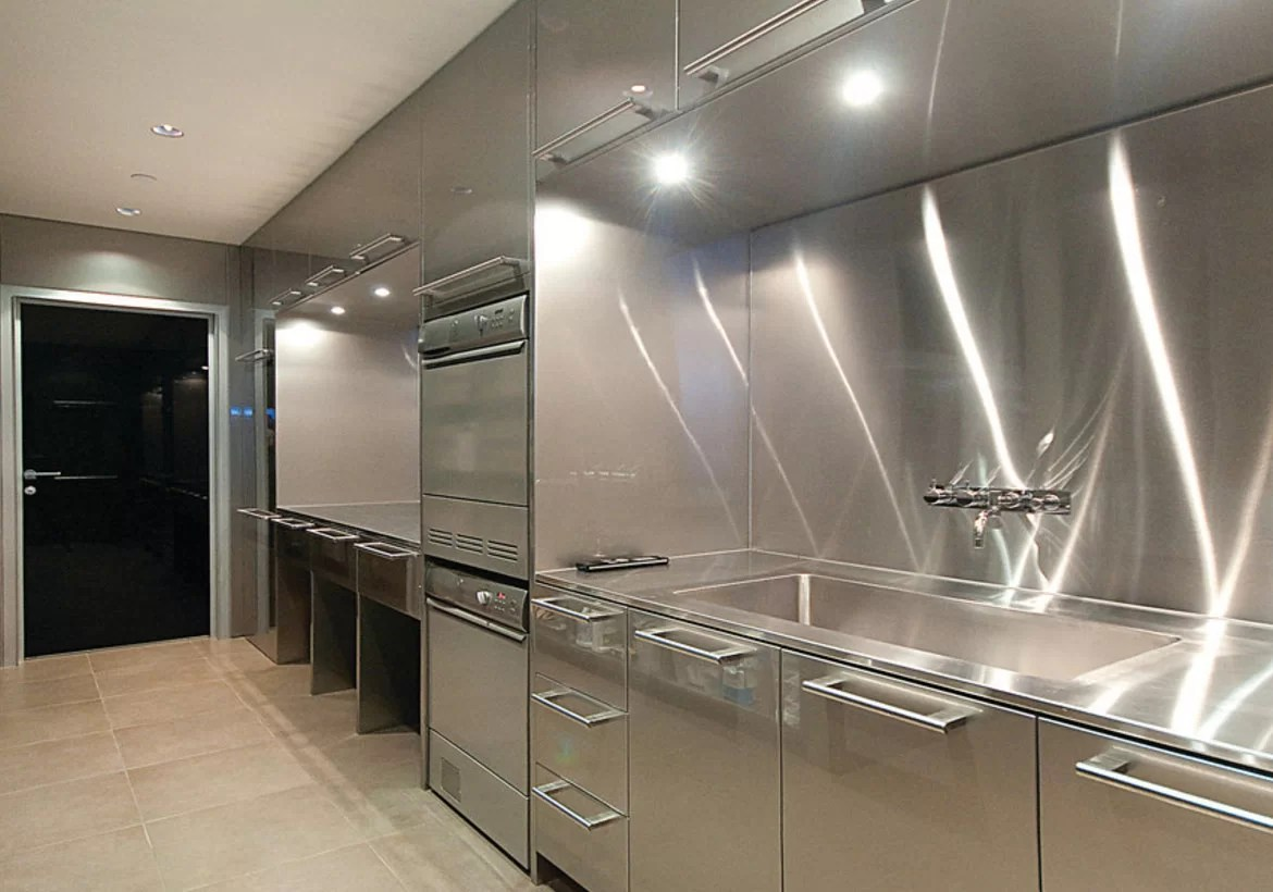 Stainless Countertop Sleek Stainless Steel Countertop Ideas Guide Home Remodeling