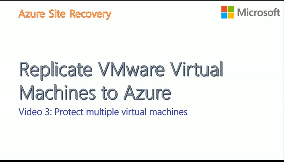 VMware to Azure with ASR - Video4 - Recovery Plan DR Drill and