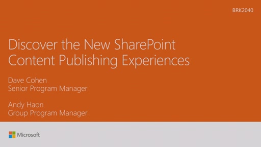 Get the most out of the new Microsoft SharePoint Microsoft Ignite