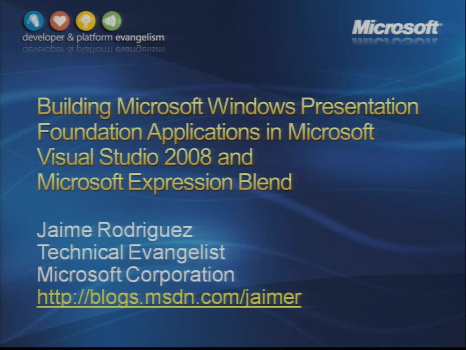 VS2008 Training Kit Building Windows Presentation Foundation