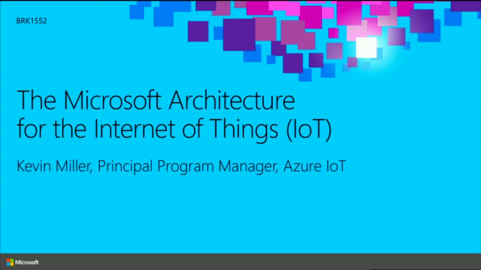 The Microsoft Architecture for the Internet of Things (IoT