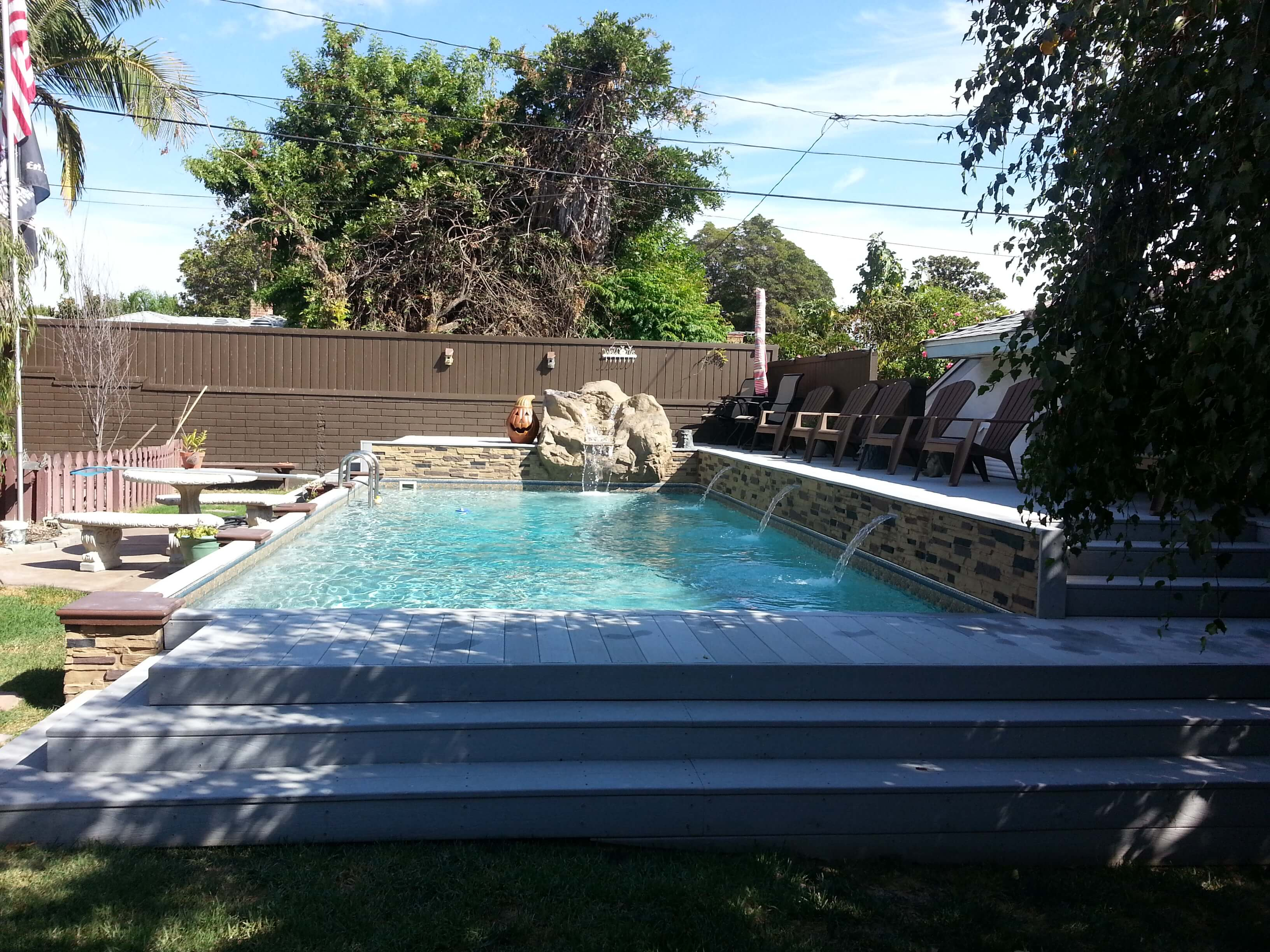 Pool Garten Winter Islander Inground Pools Secard Pools Spas