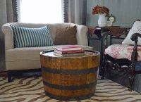 Wine Barrel Table - Whiskey Barrel coffee table