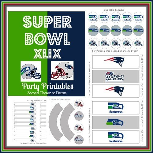 Second Chance To Dream - Super Bowl XLIX Party Printables