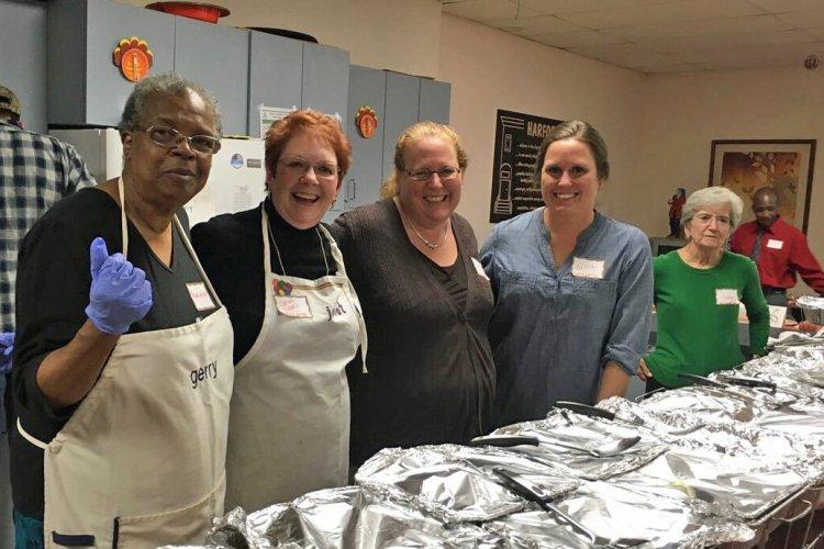 Serving Thanksgiving Dinner at Harford House