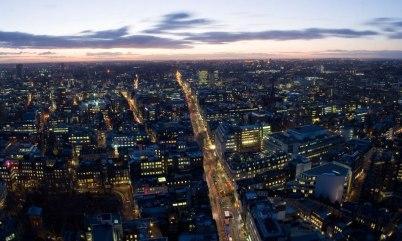 View across London