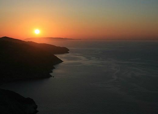 sunset at folgandros