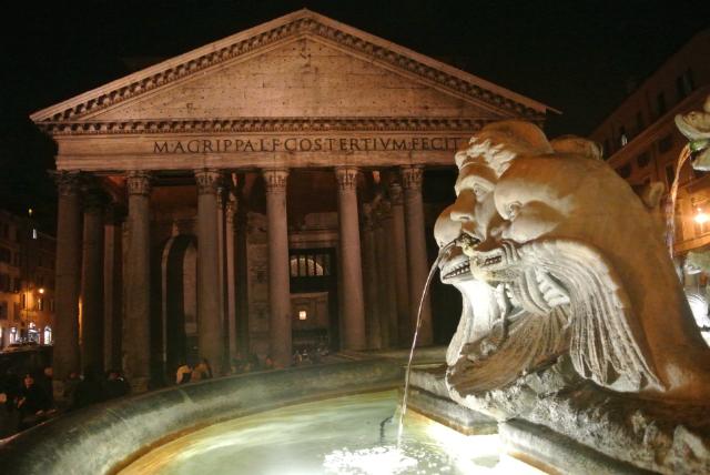 Rome Pantheon by night