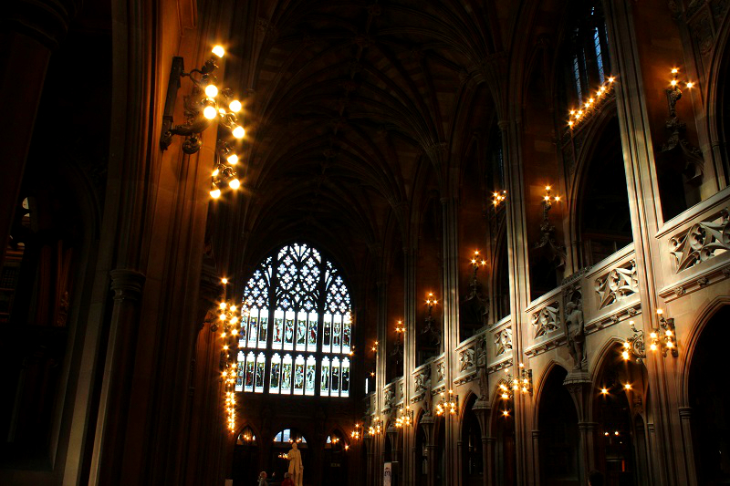 The John Rylands Library in Manchester