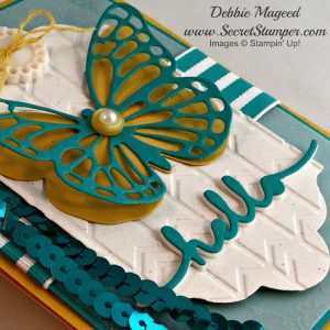 Butterflies Thinlits, Stampin Up, close up