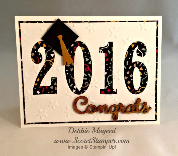 Large Numbers Framelits, Graduation, It's My Party, Stampin Up 2