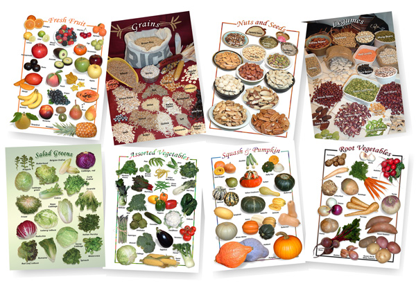 Natural Food Charts and Posters - Secrets Unsealed - food charts