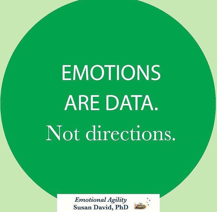 Emotions are data not directions