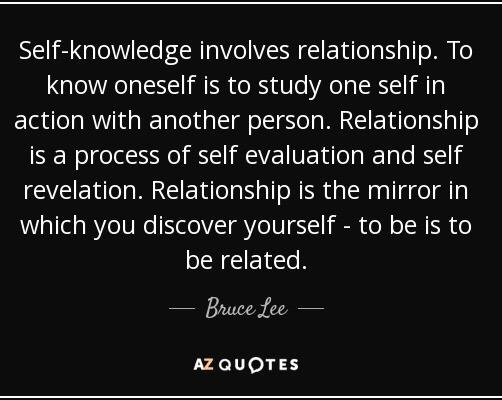 Self-knowledge involves relationship to know oneself