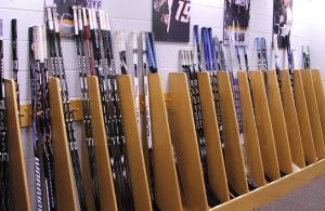 Training Camp - wall of sticks