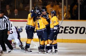 Preds goal celebration (Sarah Fuqua)