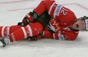 Eric Staal injury (screen shot)