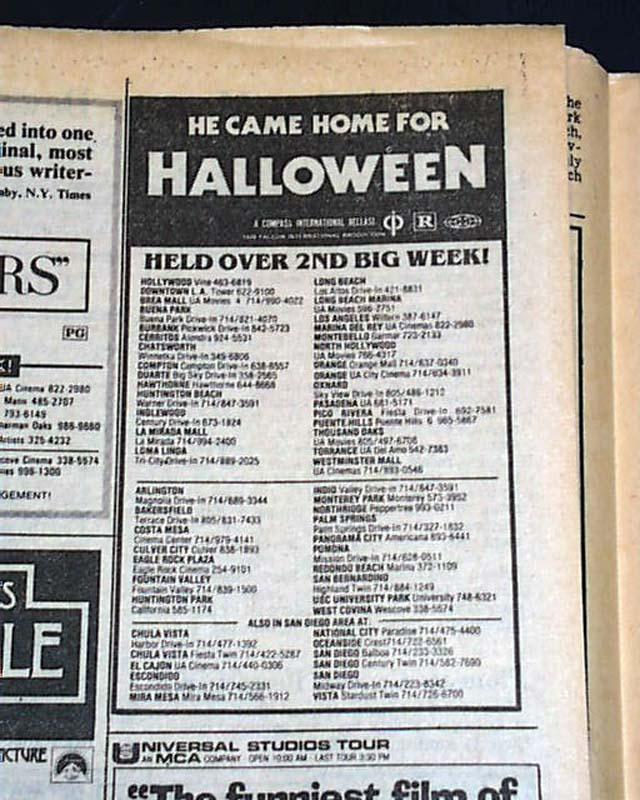 HALLOWEEN John Carpenter Slasher Film Michael Myers Movie AD 1978