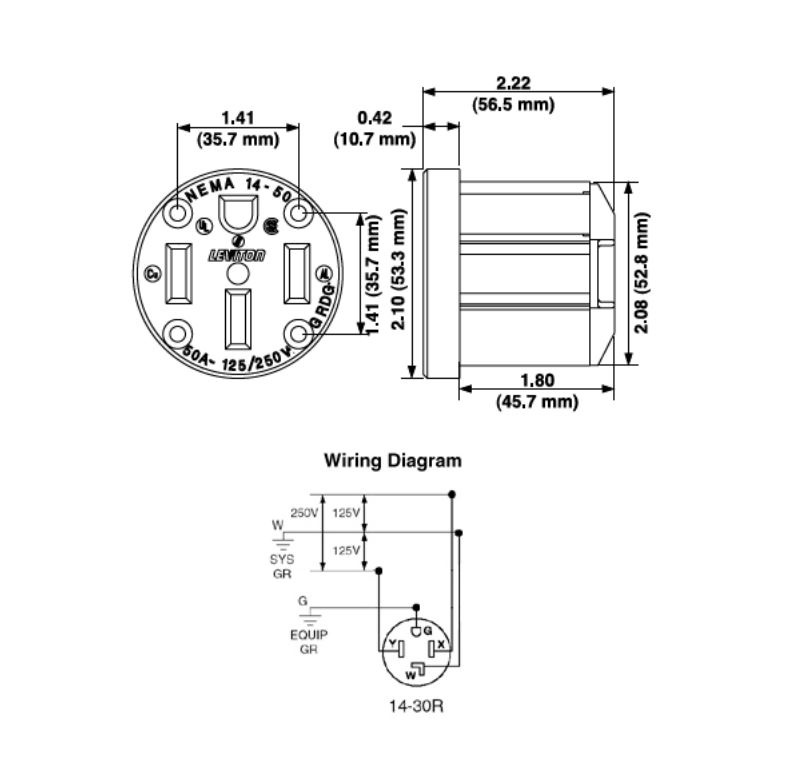leviton dryer outlet wiring diagram