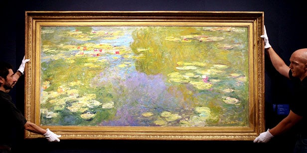 Claude Monet water lily painting fetches record of nearly £41m