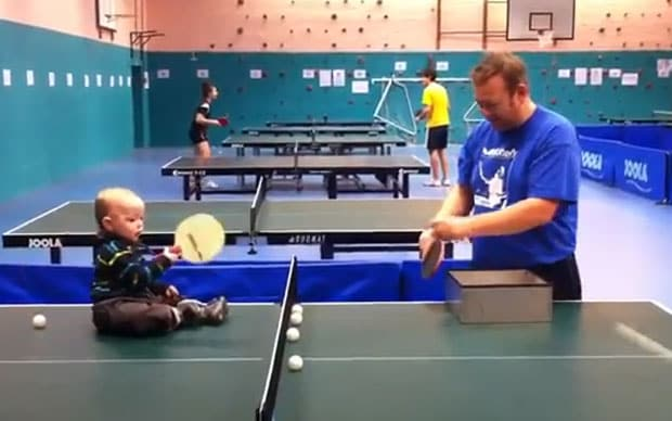 Video Ping Pong Playing Baby Becomes Online Favourite