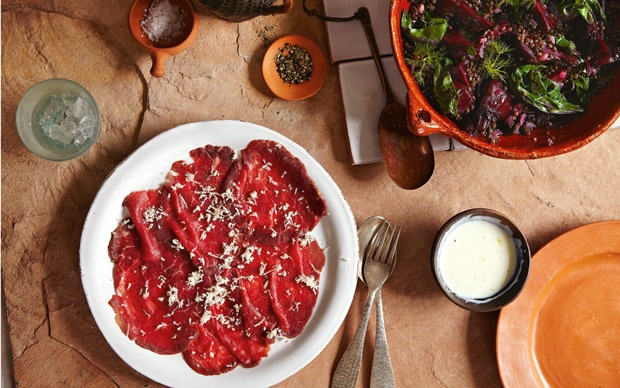 Black Friday Juice Plus Beef Carpaccio With Black Beluga Lentils And Roast