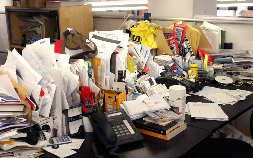Having A Messy Desk Makes You 39more Creative39 Telegraph