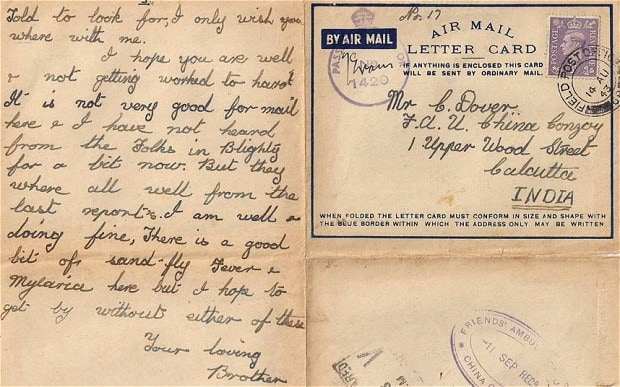 Touching letters from WW2 soldier to his pacifist brother - Telegraph