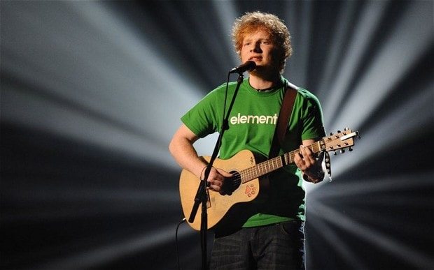 UK Top 40 Ed Sheeran secures first number 1 with Sing - Telegraph