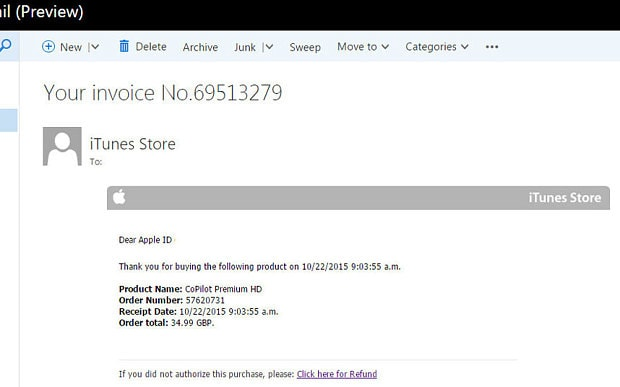 Apple customers targeted by fake iTunes email scam - Telegraph - fake invoice