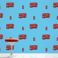 "WallCandy Arts 2.17' x 26"" London Bus Wallpaper 