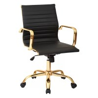 Angelina Office Chair in Gold & Reviews | Joss & Main