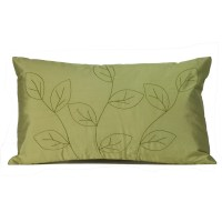 Jiti Leaves Silk Lumbar Pillow & Reviews | Wayfair
