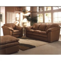 Omnia Leather Oregon 3 Seat Leather Living Room Set ...