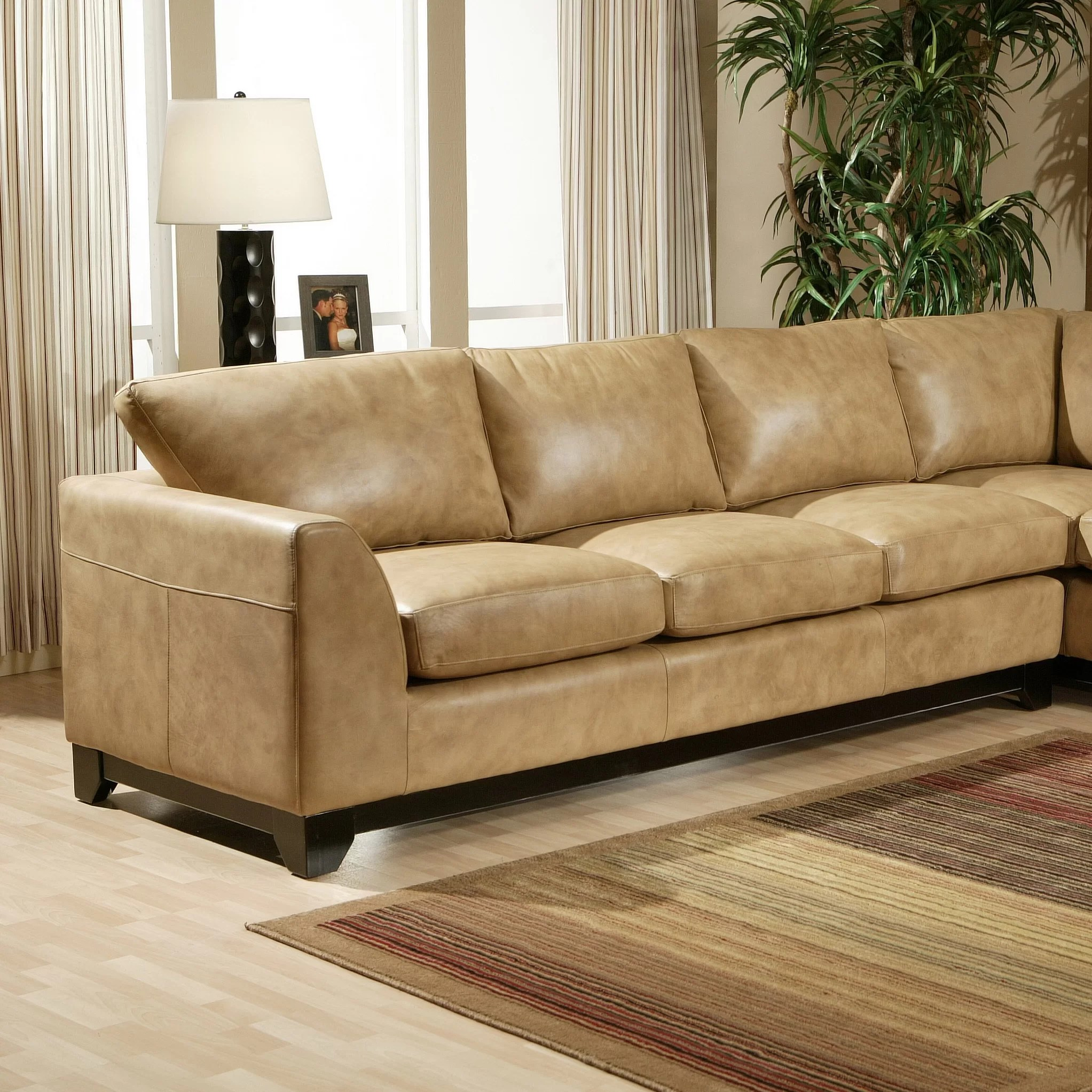Sleek Leather Couch Omnia Leather City Sleek Leather Sofa Wayfair