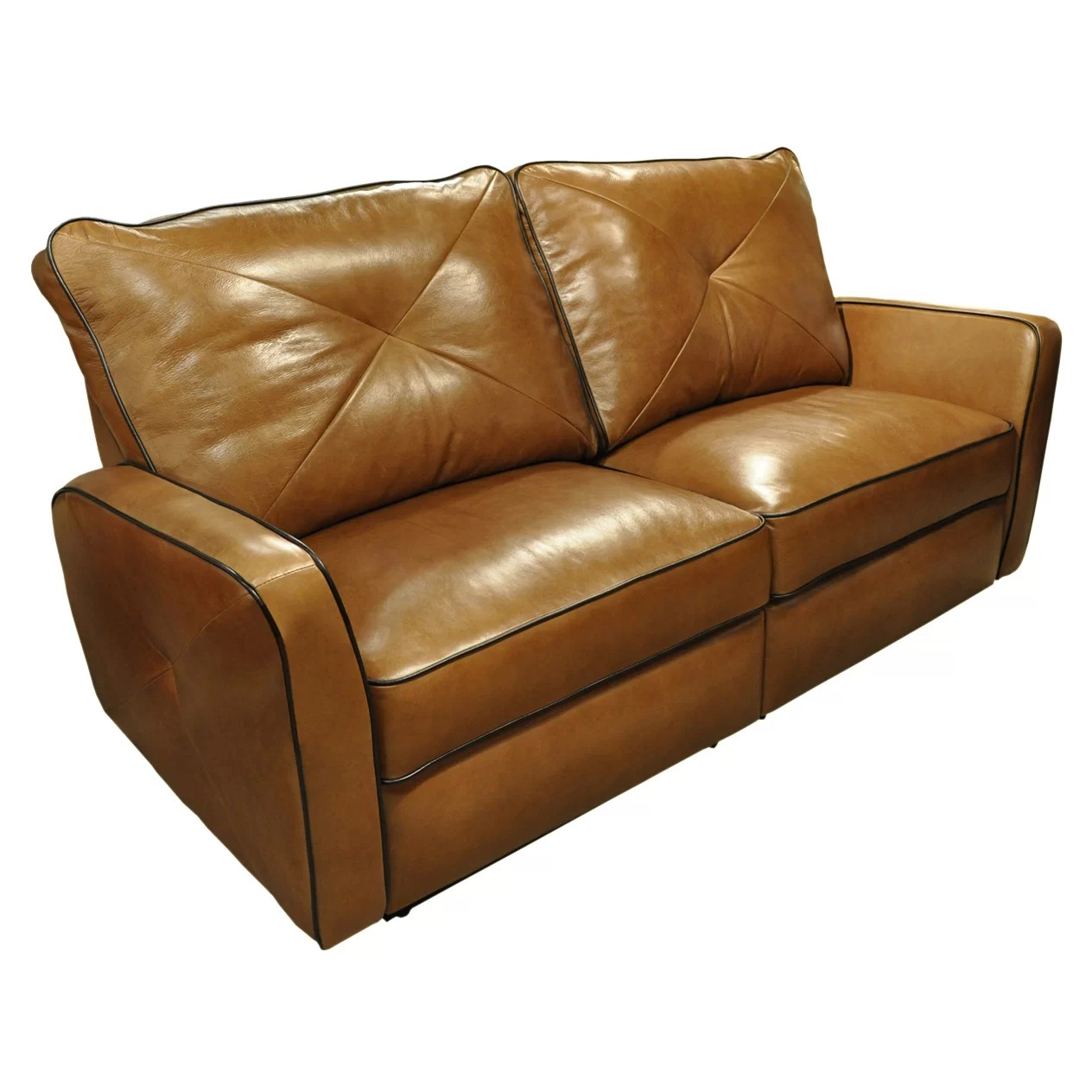 Leather Loveseat Omnia Leather Bahama Leather Reclining Loveseat And Reviews