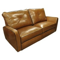Omnia Leather Bahama Leather Reclining Loveseat & Reviews ...