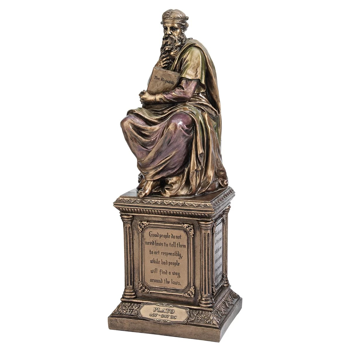 Ancient Greek Statues For Sale Design Toscano Master Of Philosophy Plato Figurine Wayfair