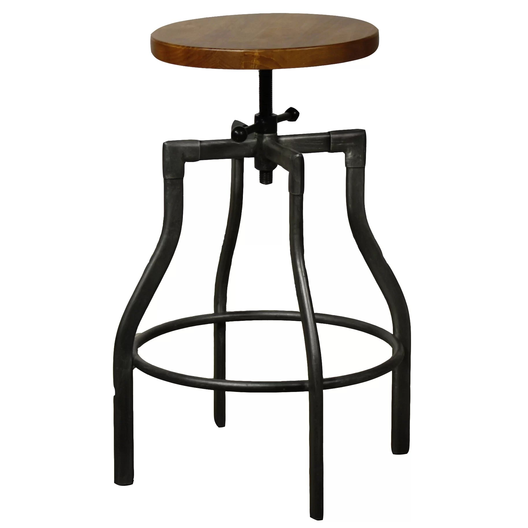 Industrial Counter Height Bar Stools New Pacific Direct Industrial Adjustable Height Swivel Bar
