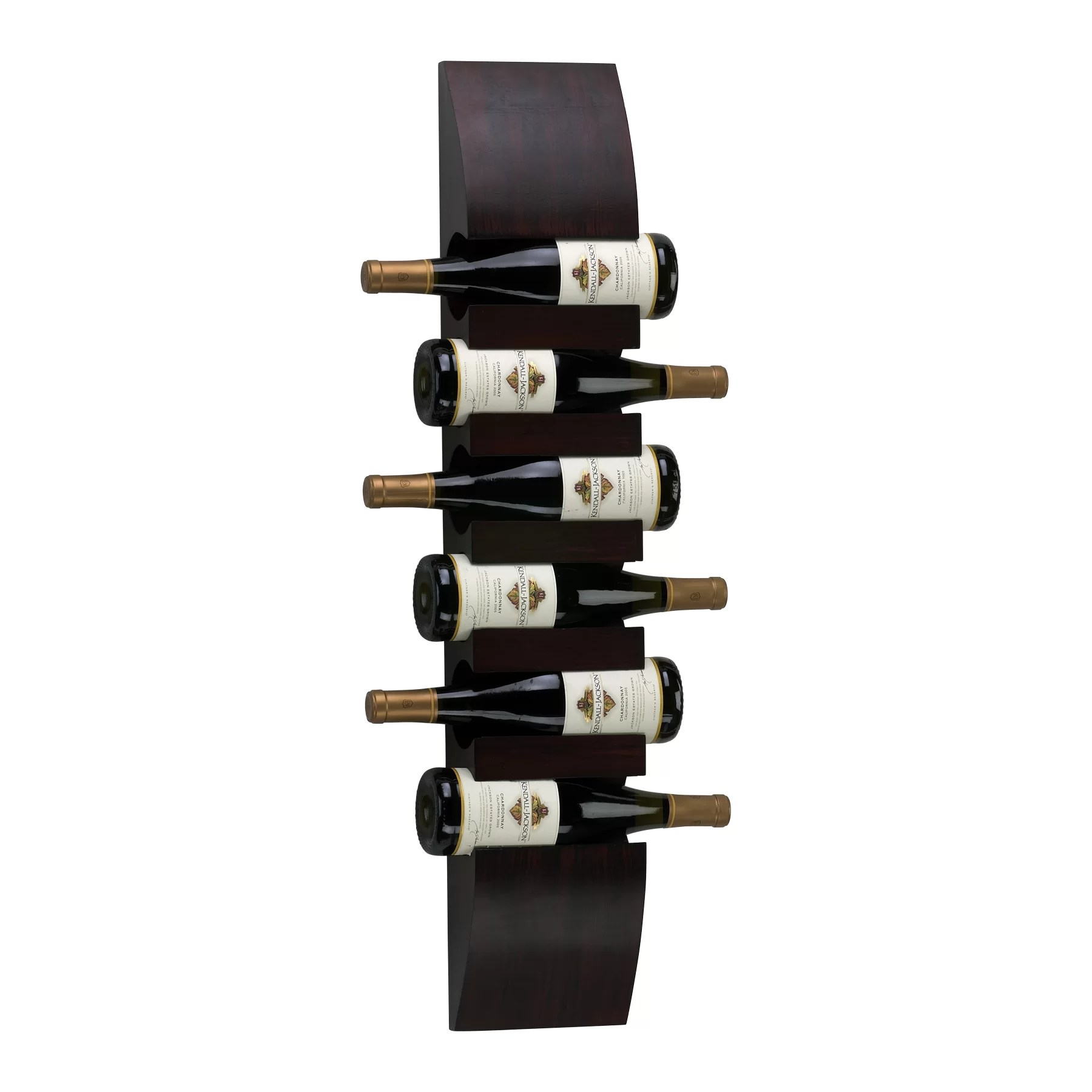 6 Bottle Wine Rack Wall Mount Cyan Design 6 Bottle Wall Mounted Wine Rack And Reviews