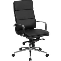 Flash Furniture High-Back Leather Executive Chair ...